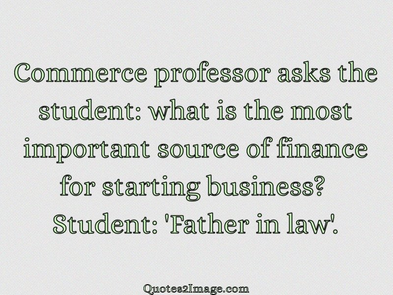 Commerce Professor Asks Funny Quotes 2 Image