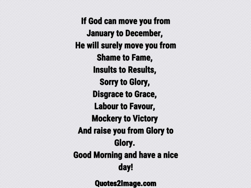 if god can move you from good morning quotes image