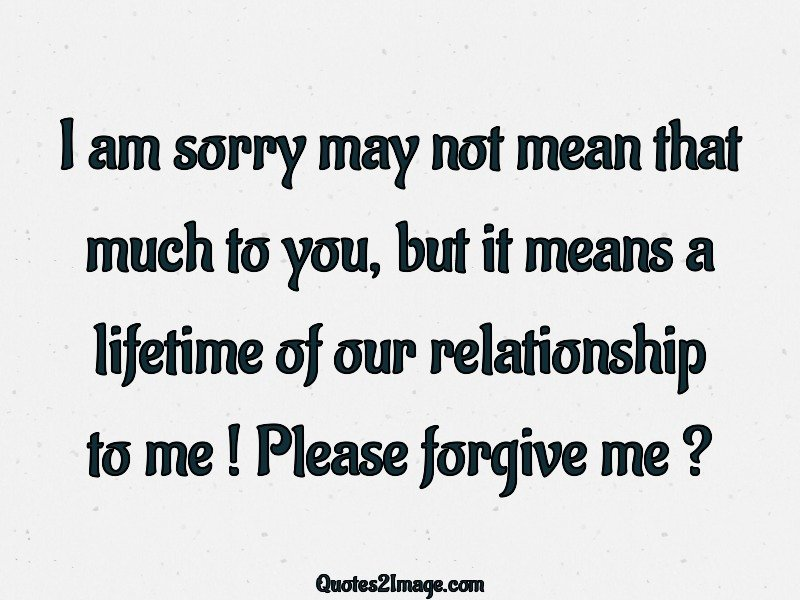 Sorry Quote Image 2420