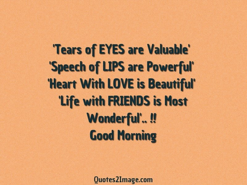 Tears of EYES are Valuable - Friendship - Quotes 2 Image