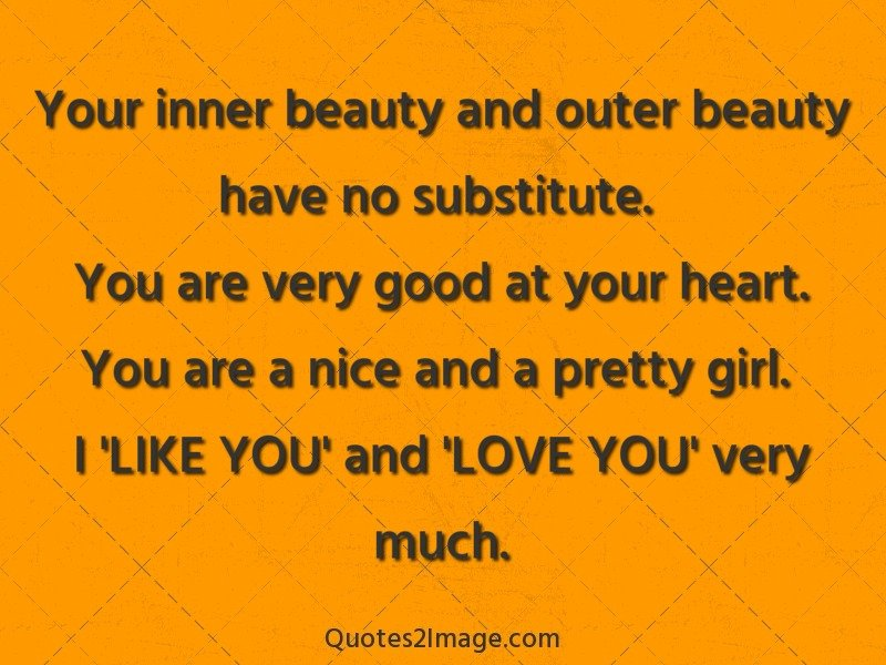 Your Inner Beauty And Outer Love Quotes 2 Image