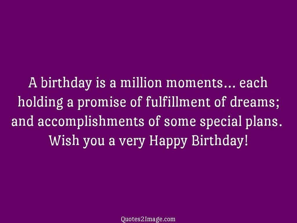 A birthday is a million moments