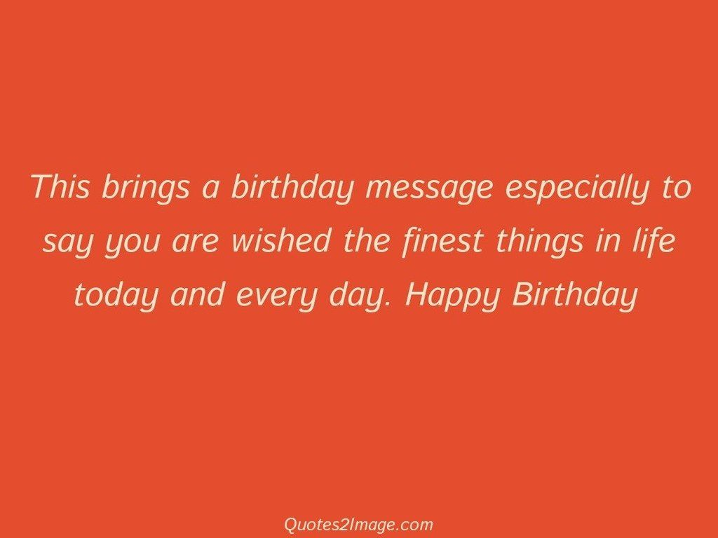 This brings a birthday message