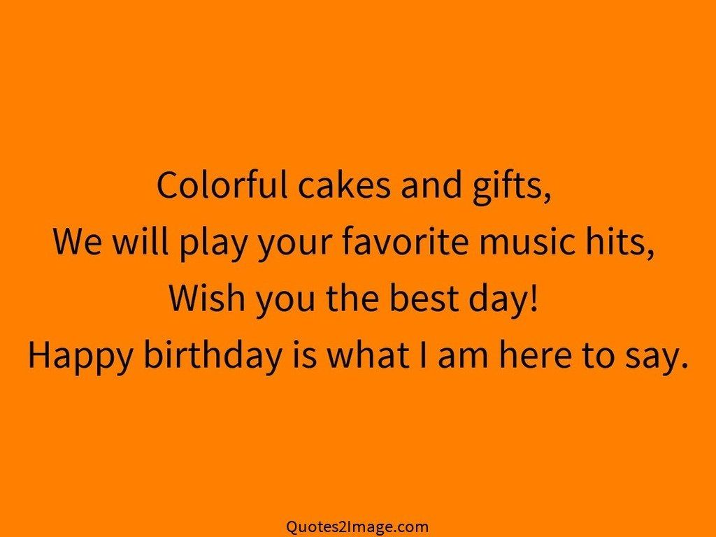 Colorful cakes and gifts