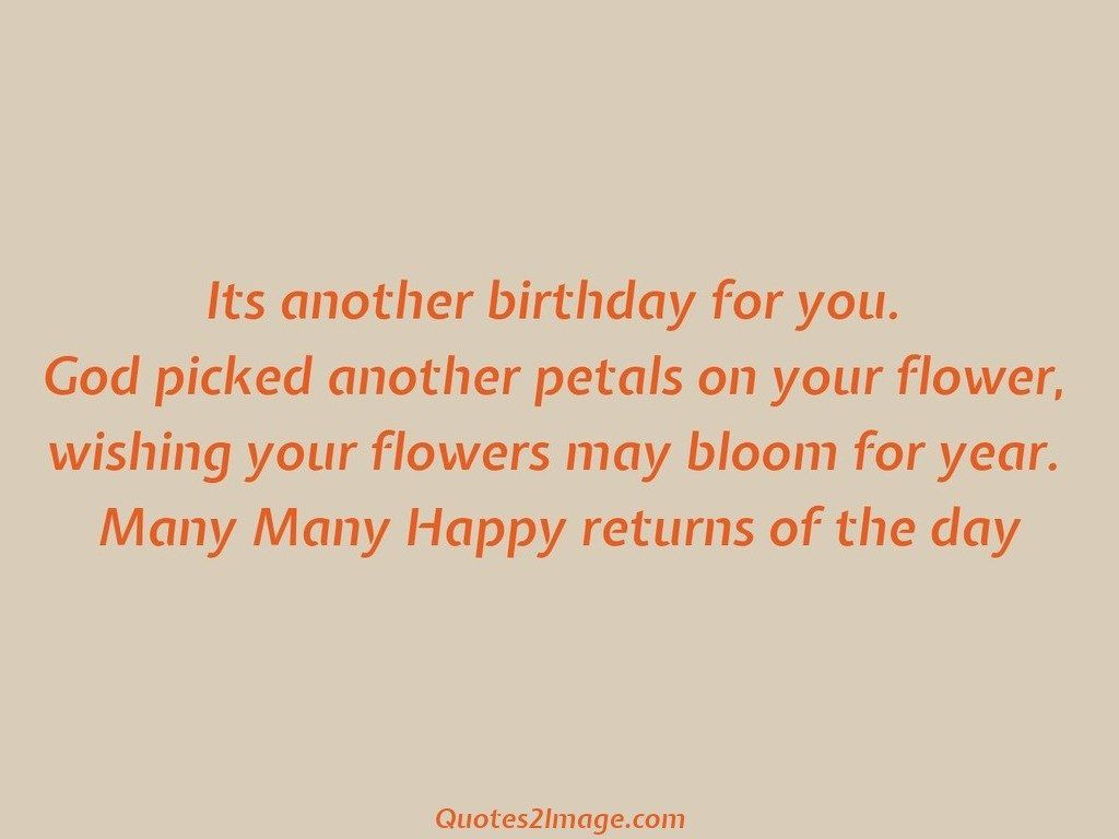 Happy returns of the day