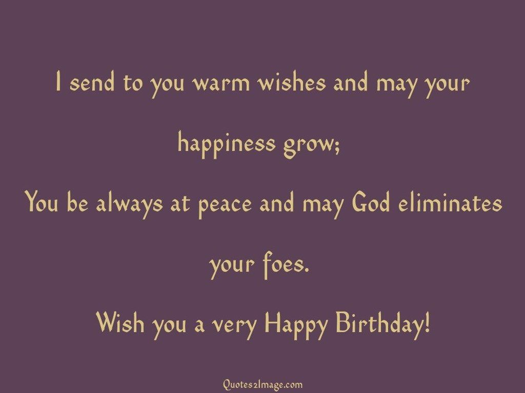I send to you warm wishes