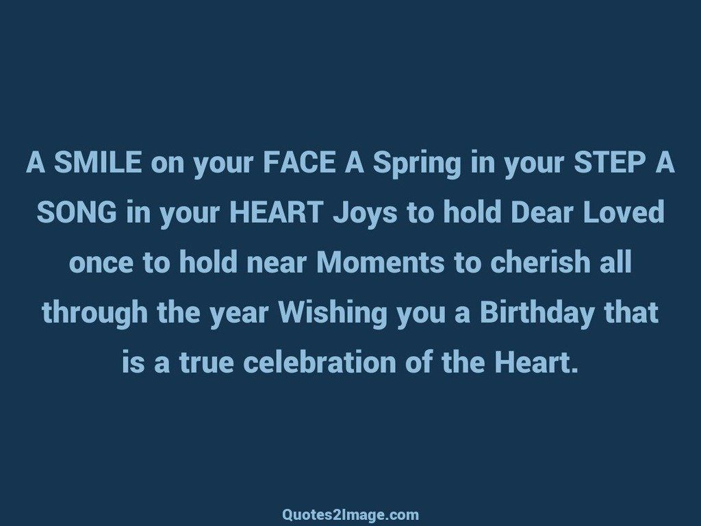 A SMILE on your FACE A Spring