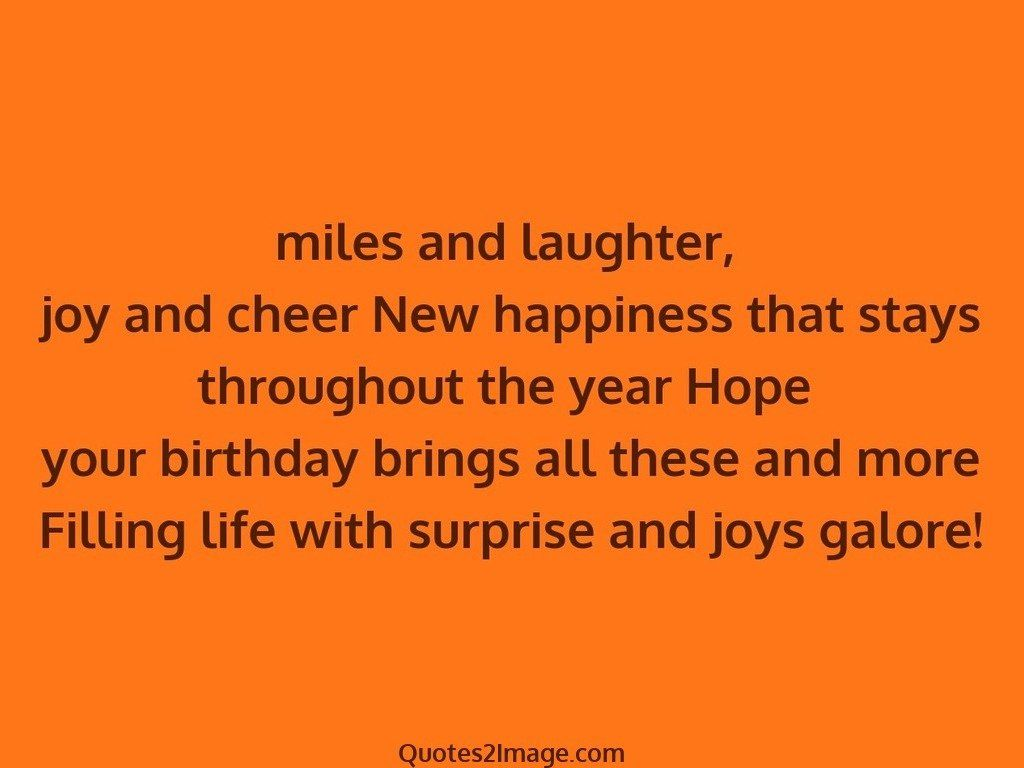 Surprise and joys galore
