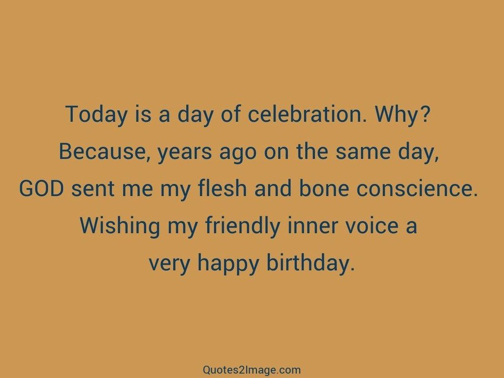 Today is a day of celebration