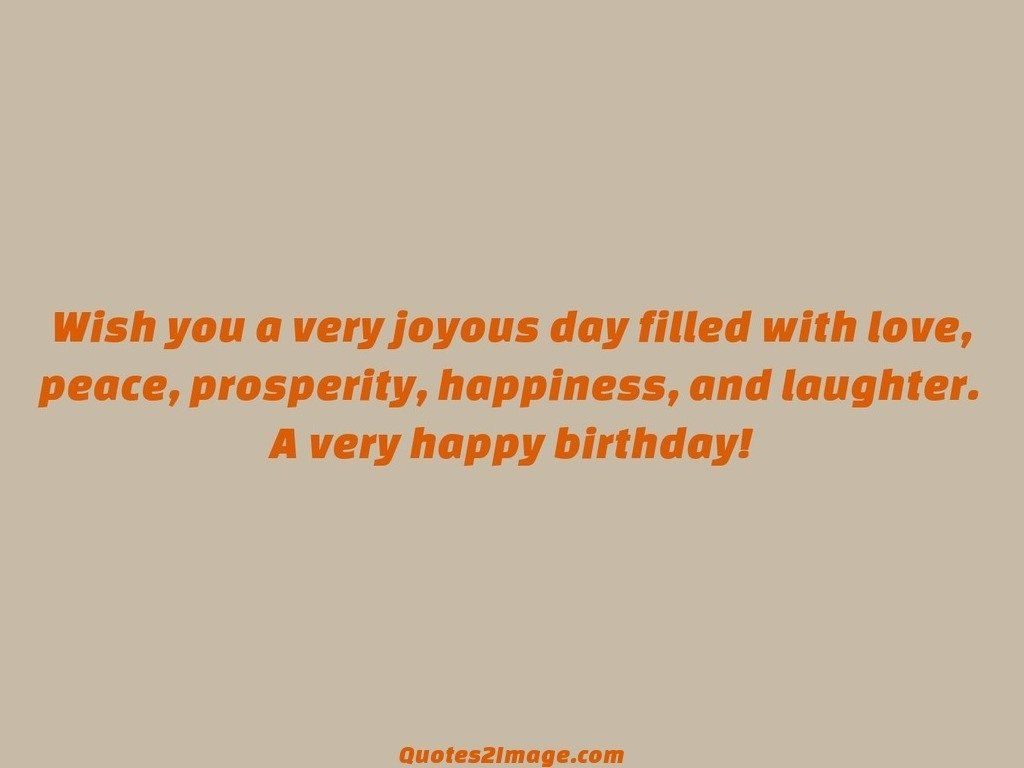 Wish You A Very Joyous Birthday Quotes 2 Image