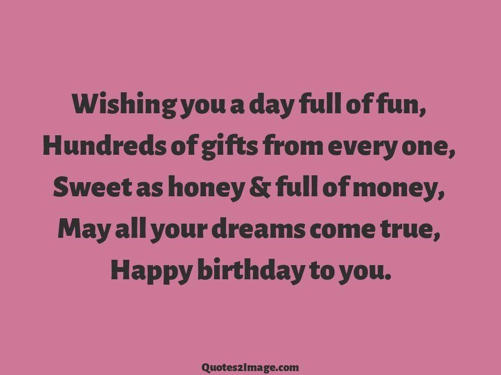 Wishing you a day full