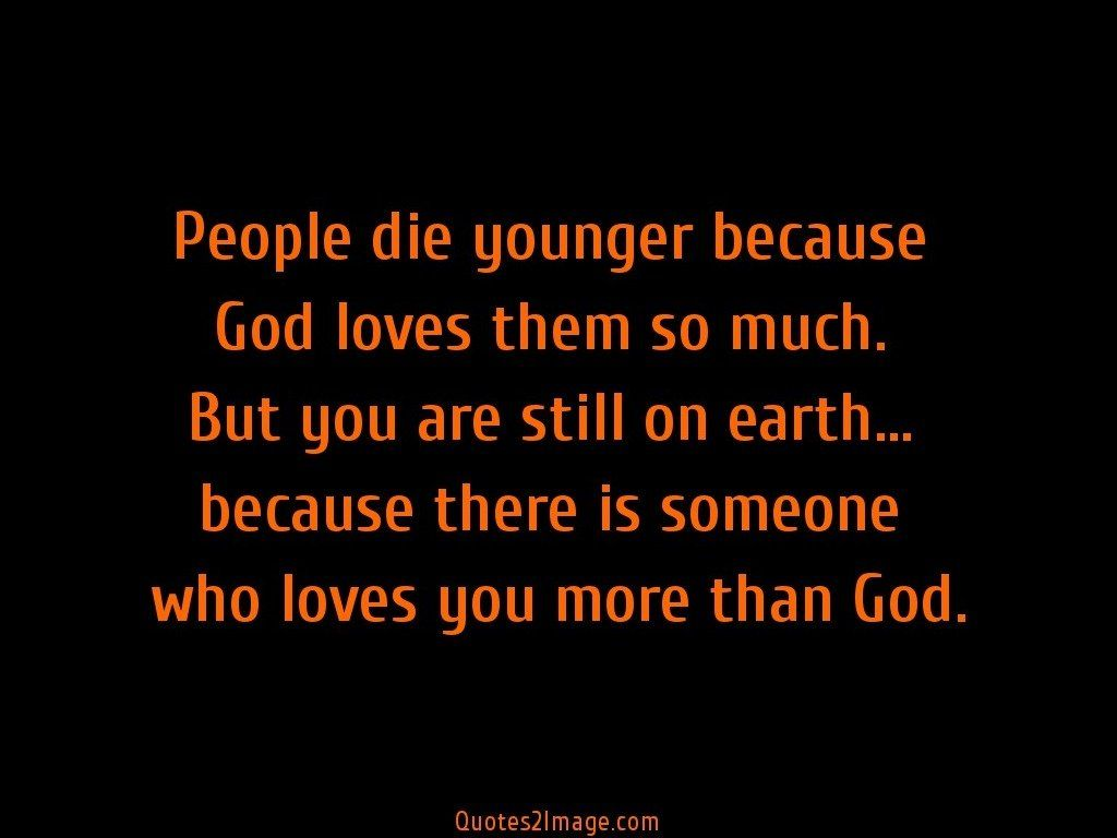 People die younger