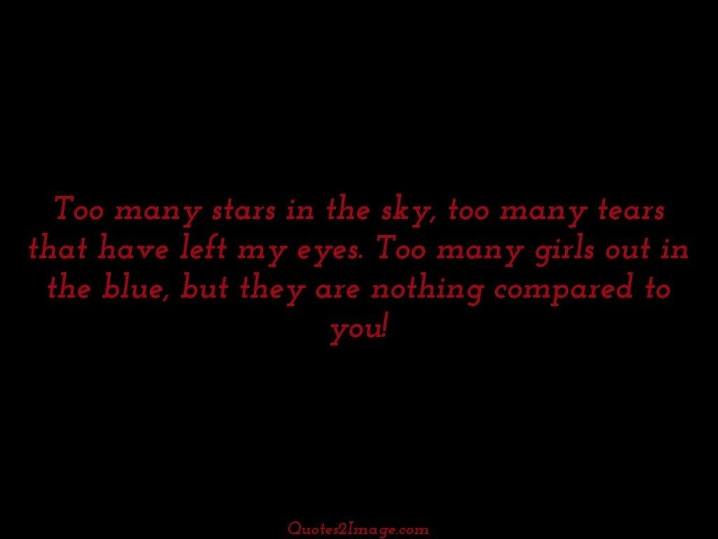Too many stars in the sky