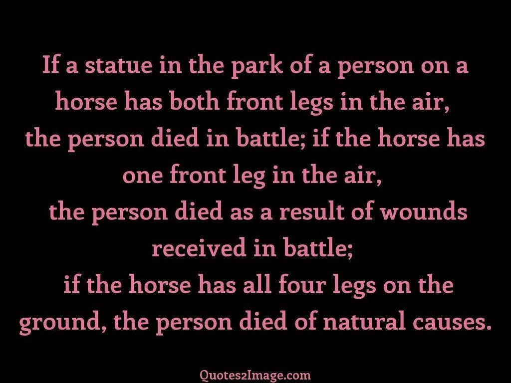 If a statue in the park of a person
