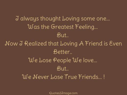 I always thought Loving