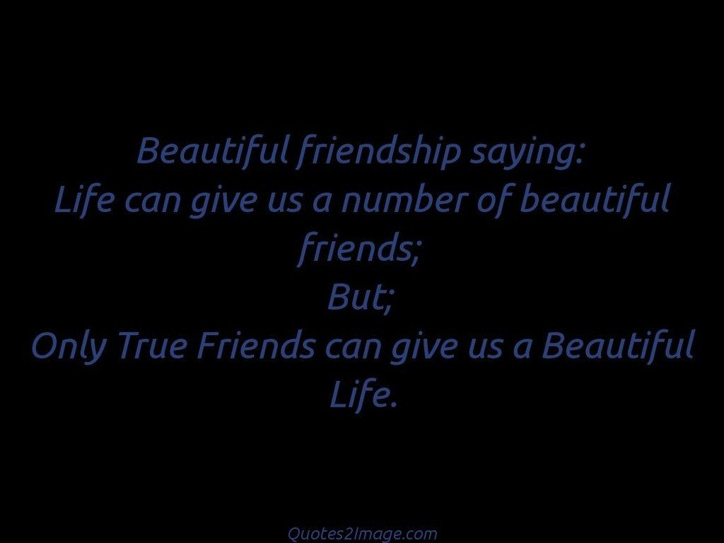 A Quote About Friendship Beautiful Friendship Saying  Friendship  Quotes 2 Image