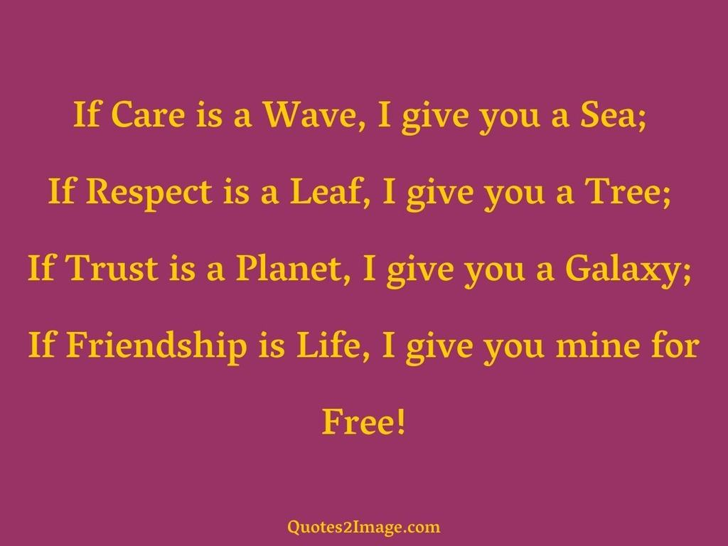 If Care is a Wave