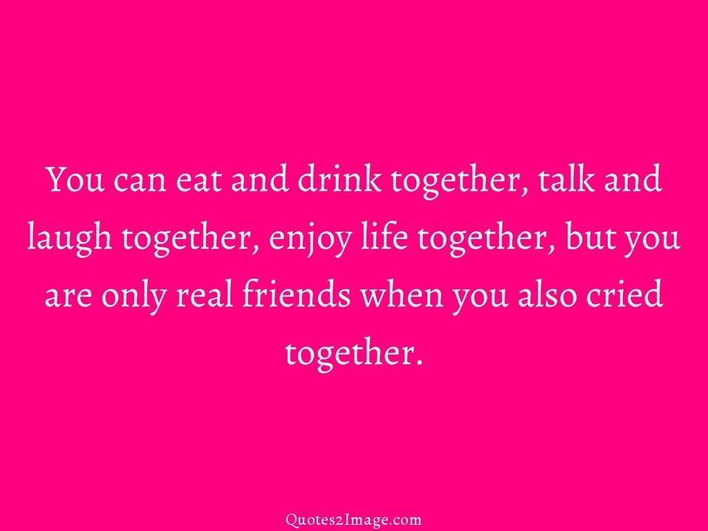 You can eat and drink together