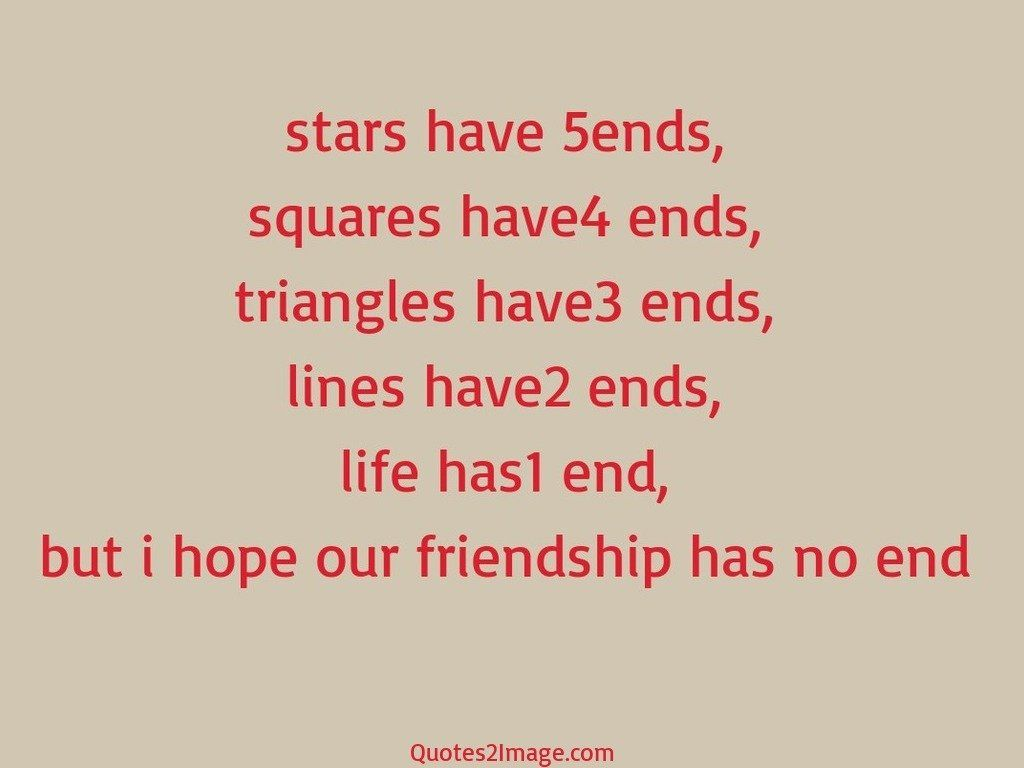 Quotes About Friendship Ending Brilliant Friendship Has No End  Friendship  Quotes 2 Image