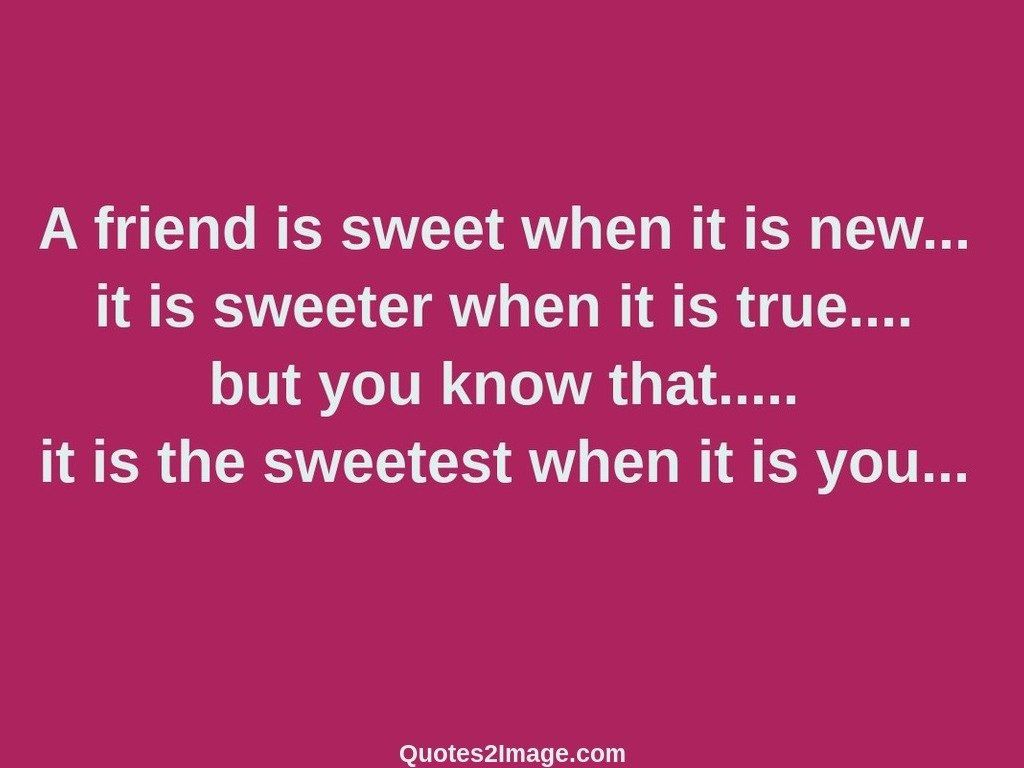 Wise Quotes About Friendship A Friend Is Sweet When It Is New  Friendship  Quotes 2 Image