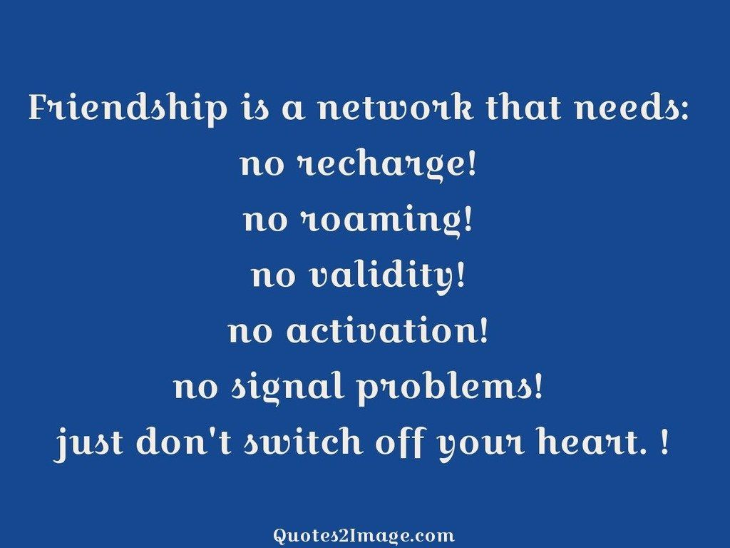 Friendship is a network that needs