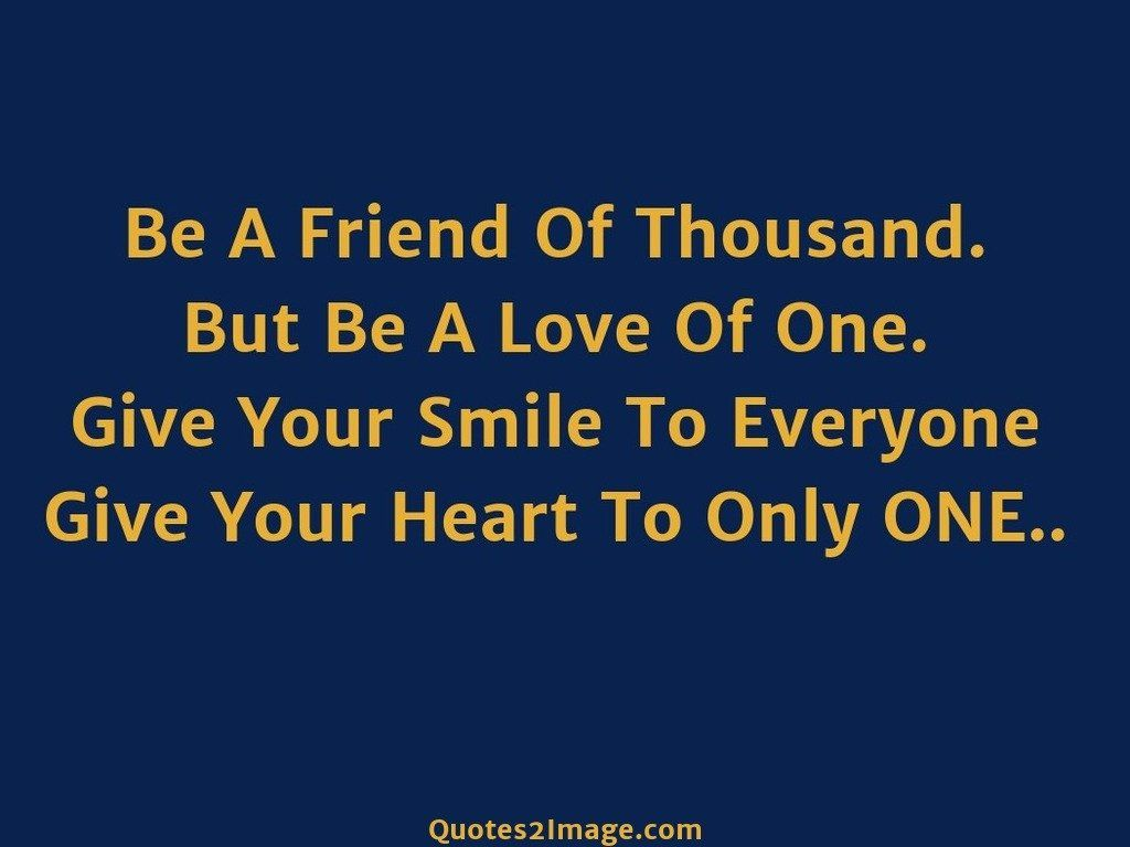 Give Your Heart To Only ONE