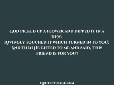 friendshipquotegodpickedflower