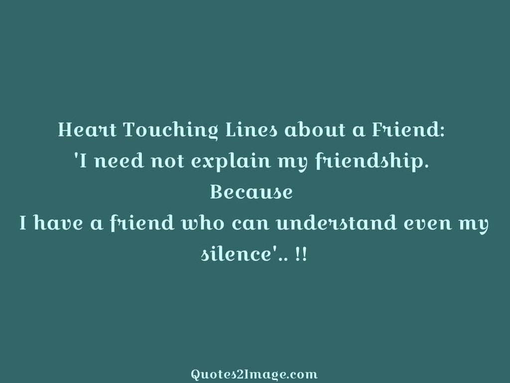 Touching Quotes About Friendship Pleasing Heart Touching Lines  Friendship  Quotes 2 Image
