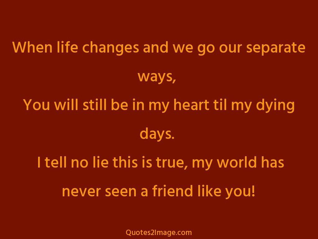 Life Changes Quotes When Life Changes And We Go  Friendship  Quotes 2 Image