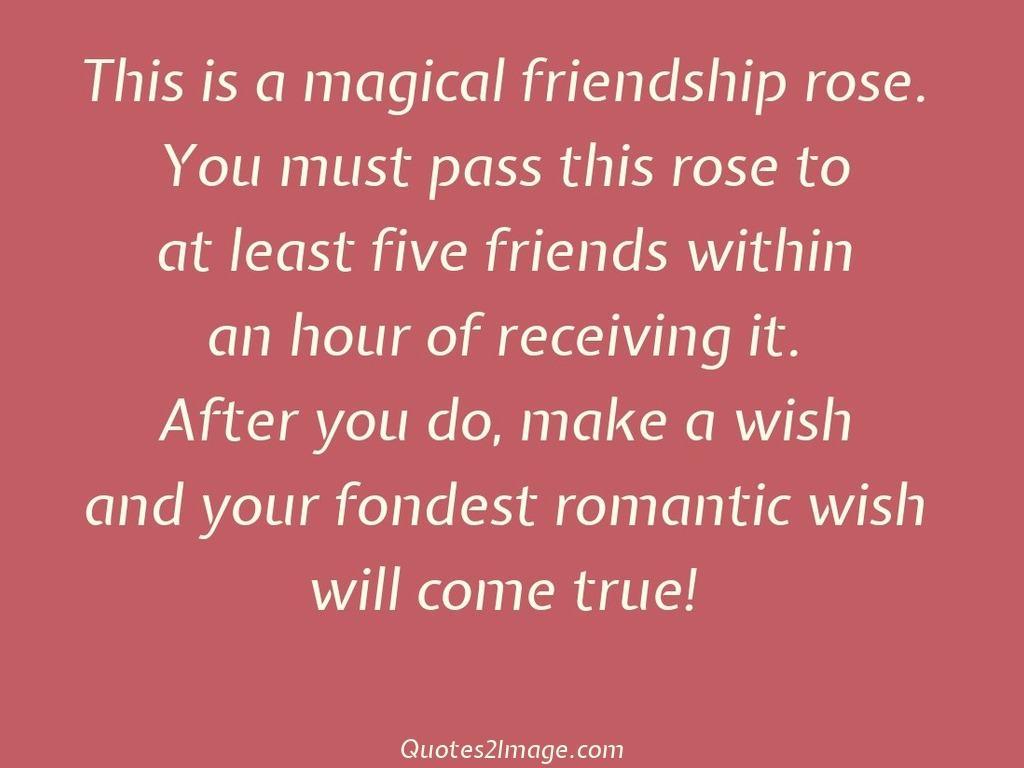 friendshipquotemagicalfriendshiprose