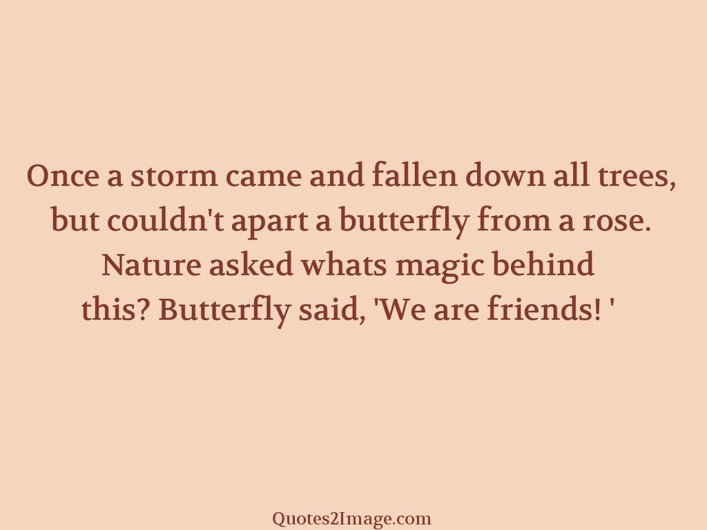 Once a storm came