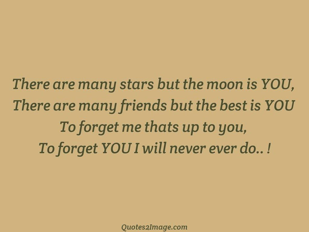 There are many stars but the moon