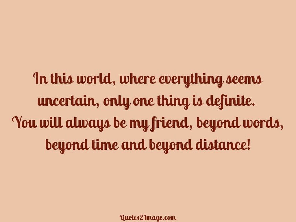Charming Friendship Quote. Time And Beyond Distance
