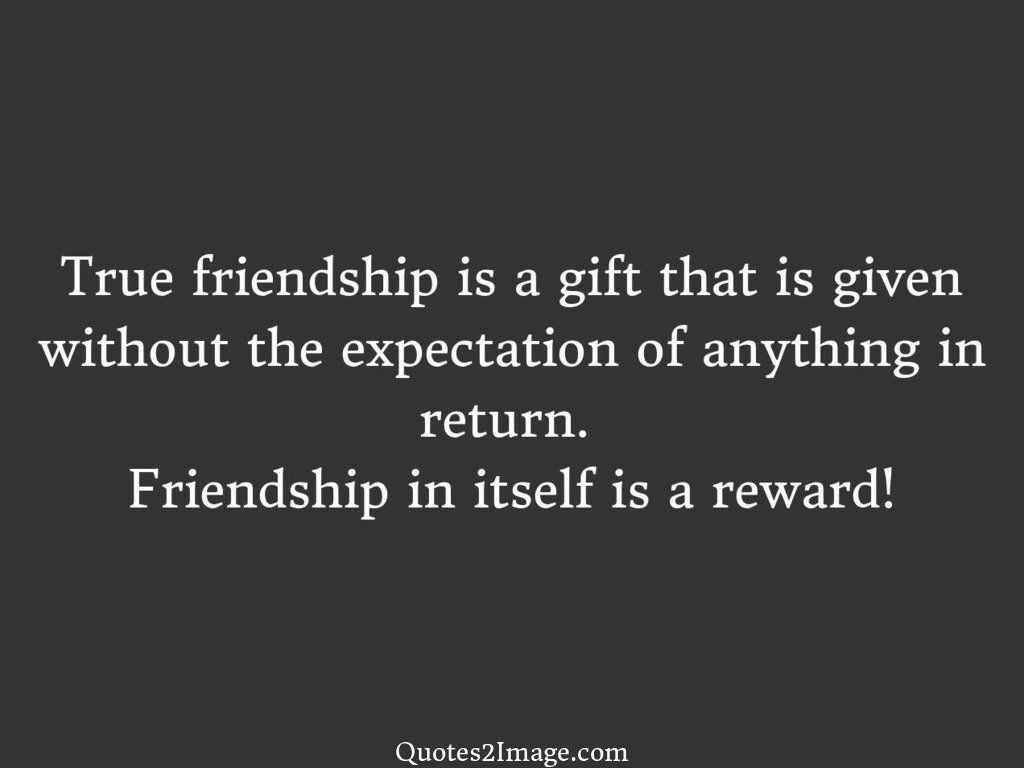 Wise Quotes About Friendship True Friendship Is A Gift  Friendship  Quotes 2 Image