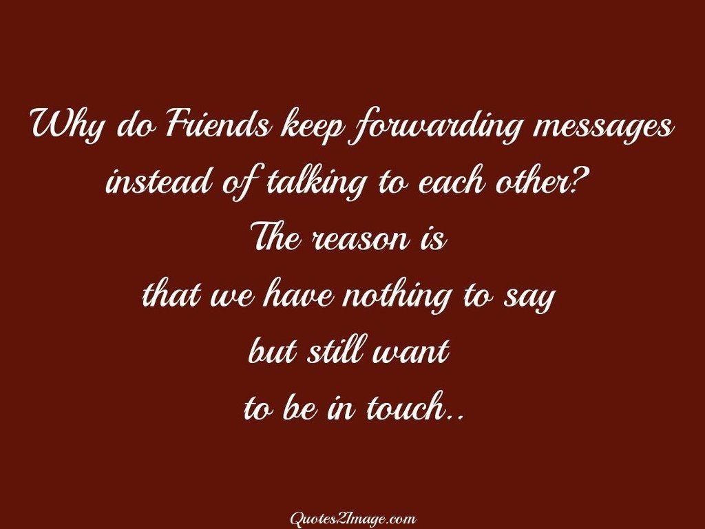 Why do Friends keep