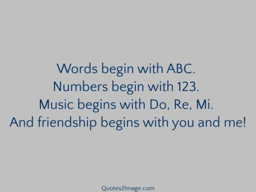 Words begin with ABC