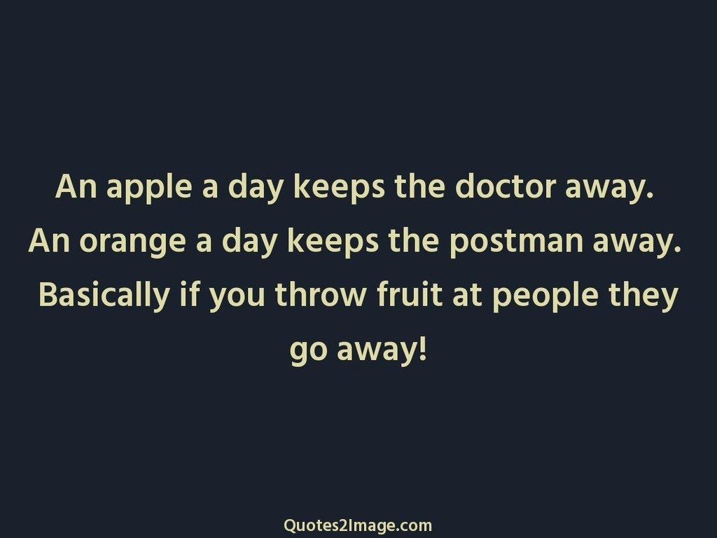 An apple a day keeps
