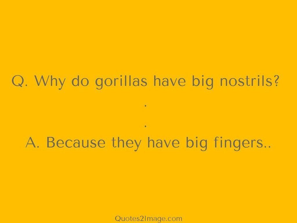 Big nostrils Big fingers