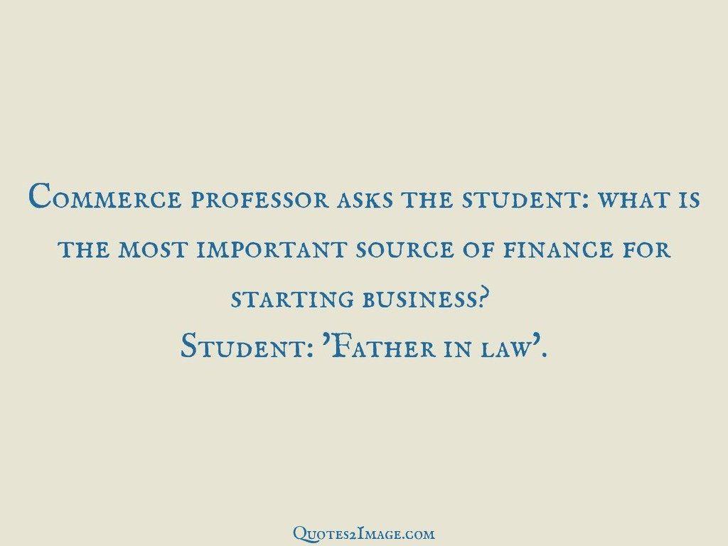 Commerce professor asks