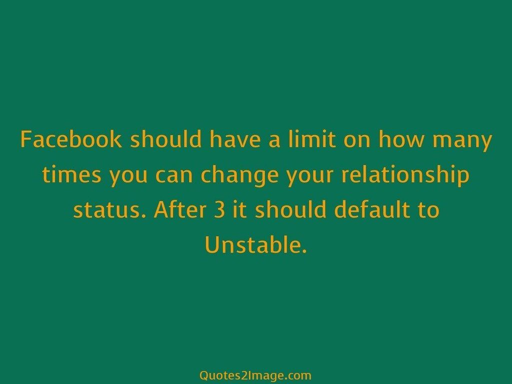Facebook should have a limit on how many times