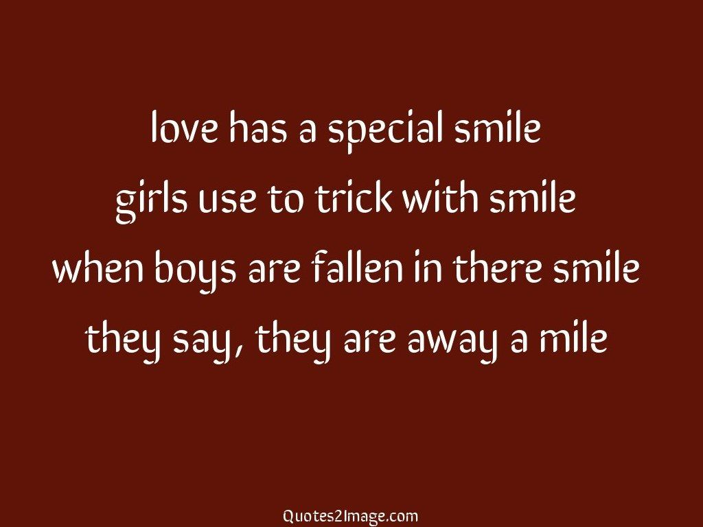Love has a special smile