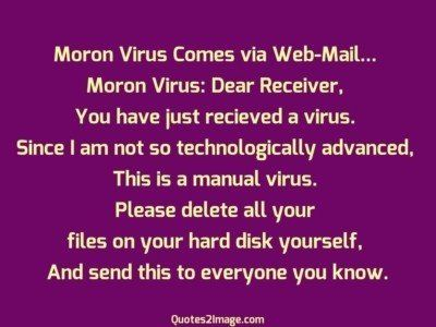funnyquotemoronviruscomes