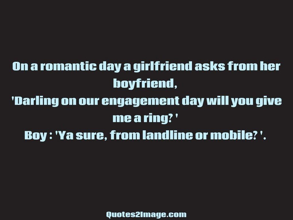 On a romantic day a girlfriend