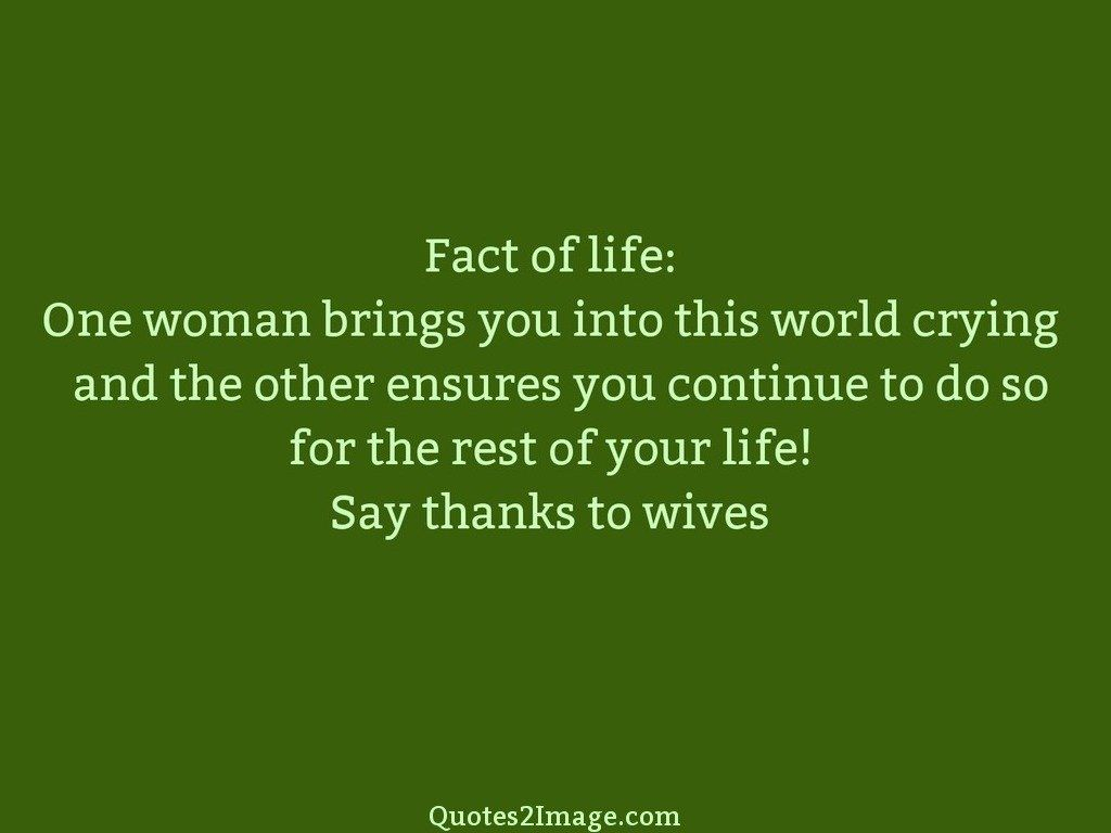 Say thanks to wives