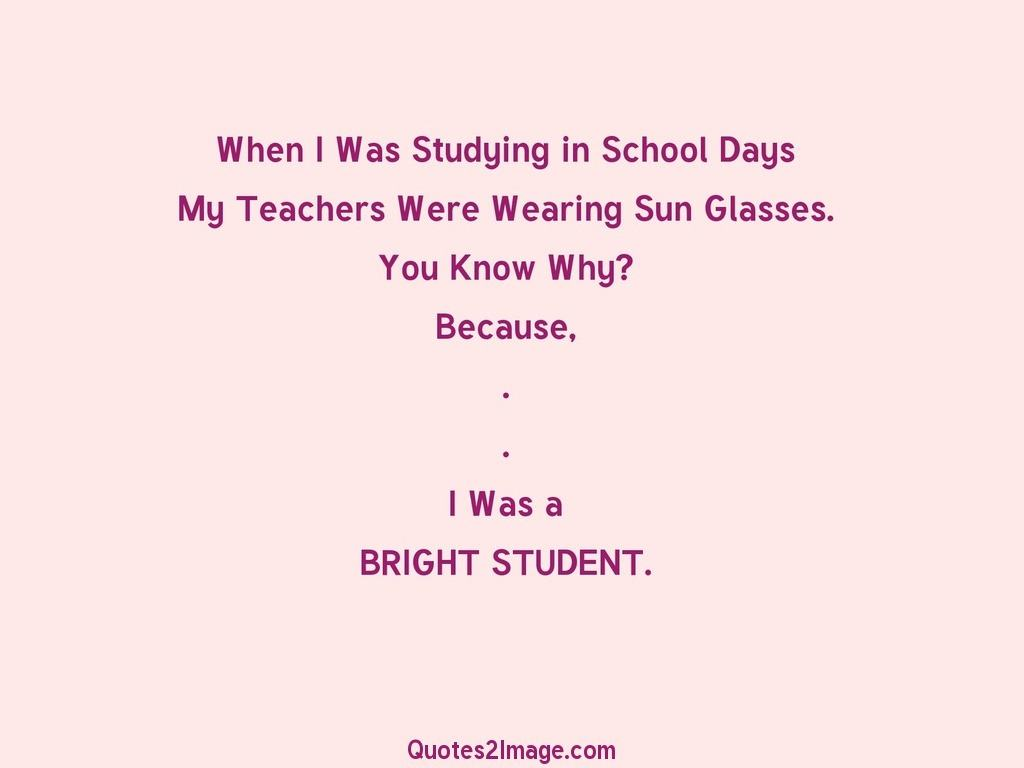 When I Was Studying in School Days