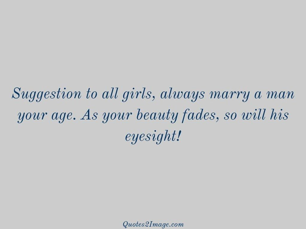 Suggestion to all girls