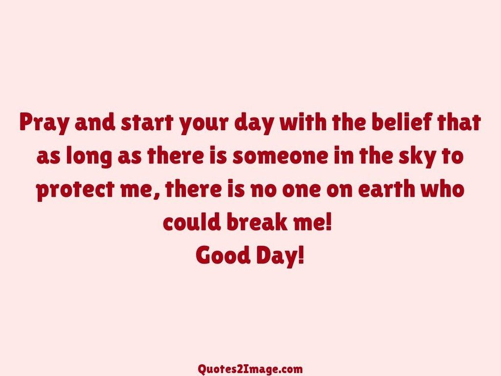 Pray and start your day