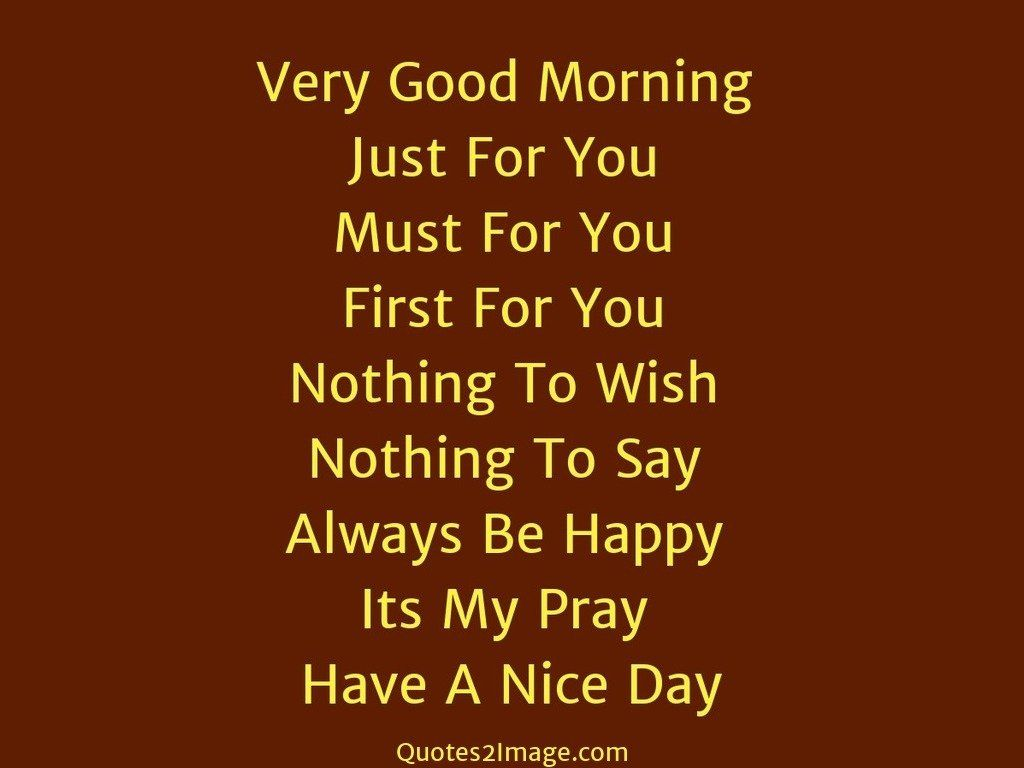 Good Day Image Quotes And Sayings: Very Good Morning