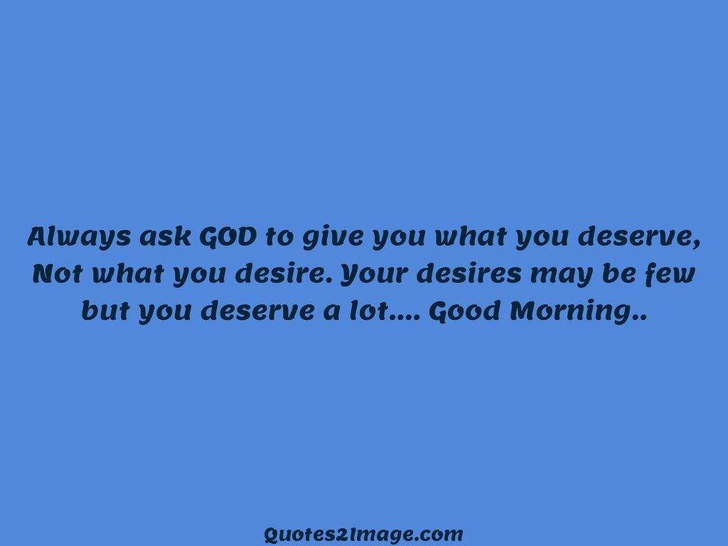 Always ask GOD