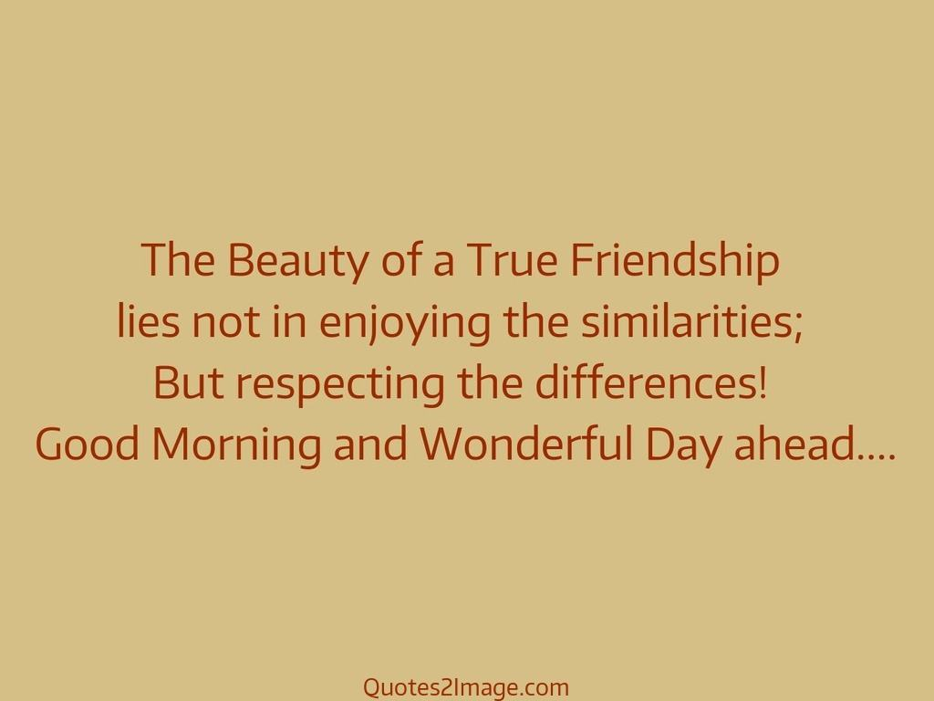 Quotes About Real Friendship The Beauty Of A True Friendship  Good Morning  Quotes 2 Image